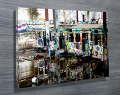 MIRRORS $26.00–$741.00 We are pleased to bring you an exclusive collection of these Tram City images taken from the the old abandoned Glebe Tram Depot by photographer Steve McLaren. This depot has now gone making these a small piece of history. These canvases look truly spectacular on the wall  http://www.canvasprintsaustralia.net.au/  #giftsfordad #photostocanvasonline