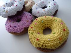 Ravelry: Sprinkly Donuts pattern by Olivia RainsfordThis pattern is available for free.