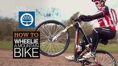 How to wheelie a mountain bike. #biking #cycling