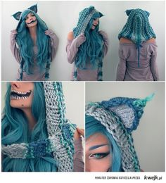 cheshire cat cosplay | The Cheshire Cat Cosplay - KWEJK.pl.....Can anyone out the knit me one of these?