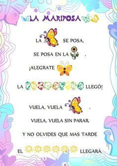 Imagen Preschool Poems, Kids Poems, Preschool Lessons, Bilingual Classroom, Bilingual Education, Spanish Classroom, Spanish Vocabulary, Spanish Language Learning, Teaching Spanish