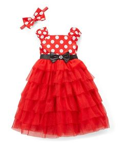Look what I found on Red Minnie Mouse Dress & Headband - Girls Red Minnie Mouse, To My Daughter, My Girl, Girls, Girl Outfits, Dress Up, Summer Dresses, Clothes, Girl Clothing