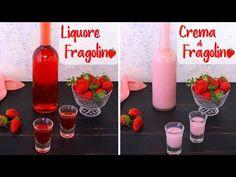 Liquore alla Fragola e Crema di Liquore alle Fragole Ricetta Facile FRAGOLINO & CREMA DI FRAGOLINO - YouTube