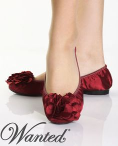 Wanted Red Ballerina Flats