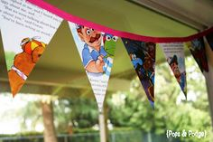 book page bunting-love this for a kid themes party!!!