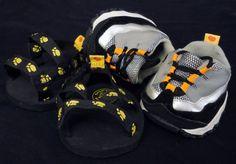70c31124301 Build A Bear Shoes Lot Sketchers Sandals 2 Pair Boys Black Yellow Grey  Orange