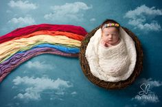"""""""She is the Gold at the end of the Rainbow"""" Indie-Rae was a beautiful rainbow baby just a week old #rainbowbaby #babylossawareness #newbornphotography #photographyleicestershire #coalvillephotographer"""