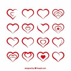 heart shape template - Google Search