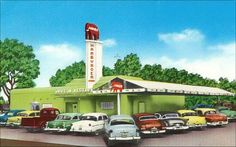Vintage postcard: The Jumbo Drive-In Restaurant, Dallas, Texas, 1950s
