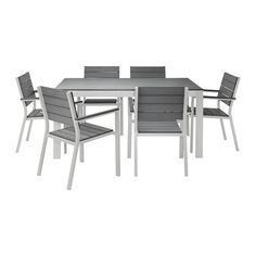 FALSTER Table And 6 Chairs IKEA Polystyrene Slats Are Weather Resistant And  Easy To Care