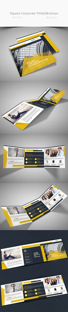 Square Corporate Trifold Brochure Template PSD. Download here: http://graphicriver.net/item/square-corporate-trifold-brochure/15677356?ref=ksioks