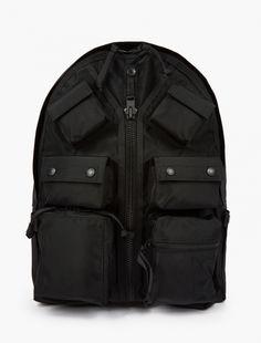 Porter,Black Luggage Label Backpack
