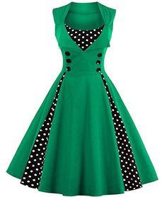 Tempt me Women's Vintage 1950s Polka Dots Patchwork Party... https://www.amazon.com/dp/B01MYQ28U8/ref=cm_sw_r_pi_dp_x_33cGybSHGYGNY