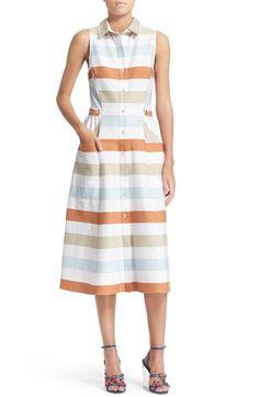 Tanya Taylor 'Sienna' Desert Stripe Shirtdress
