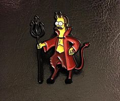 Image of Devil Flanders - Limited to Cool Pins, Hat Pins, Lapel Pins, Devil, Patches, Hats, Instagram Posts, Fictional Characters, Halloween