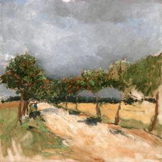 Road with Rowan Trees (Antonín Slavíček - )