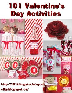 101 Valentine's Day Activities - lots of games, activities and crafts for kids
