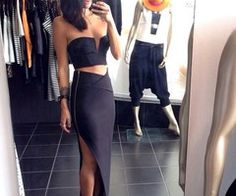Blouse: top, dress, shoes, skirt, maxi skirt, crop, ebonylace.storenvy, ebony lace, ebonylace-streetfashion, black, tight, black skirt, maxi skirt, black, slit, zip, long, shirt, little black dress, crop tops, boobtube, zipper, slit skirt, top skirt, bodi