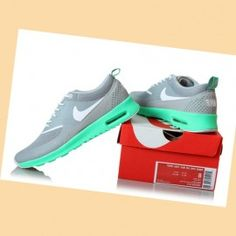 Nike Air Max Thea Schoenen Dames Lei Cement Grijs Groen Wit Platina {MpaJQY}
