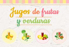 Jugos de frutas y verduras Tableware, Food, Creamed Spinach, Fruits And Vegetables, Dishes, Healthy Foods, Health And Beauty, Dinnerware, Meal