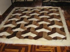 55 X 71 White Brown Alpaca Rug Genuine Peruvian By Incatrade Fur Rugs Pinterest Alpacas Fire Places And Twin Beds