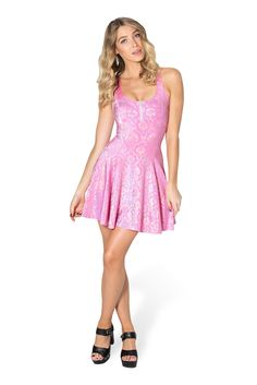 Wallpaper Princess Pink Evil Zip Dress - LIMITED by Black Milk Clothing $90AUD