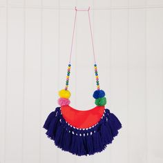 Image of Downtown Boogie Woogie tassel pom pom necklace