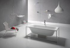 A bath concept in an open steel frame: BetteLux Shape