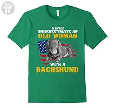 Mens Dogs Dachshund Funny Shirt Medium Kelly Green - Funny shirts (*Amazon Partner-Link)