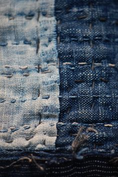 ~ indigo + stitching ~