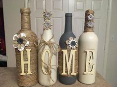 Botellas de vino de la casa por lovetammyscrafts en Etsy
