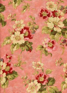 ~ It's a Colorful Life ~ Vintage Diy, Vintage Paper, Vintage Fabrics, Floral Printables, Printable Designs, Flower Backgrounds, Wallpaper Backgrounds, Wallpapers, Vintage Floral Backgrounds