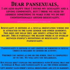 pansexuality and bisexuality -- yay, we can all get along ^_^ ;)