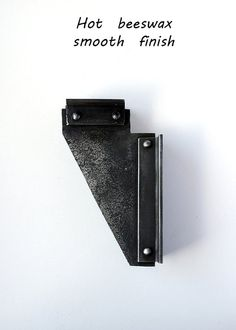 Heavy duty rustic hand forged shelf bracket by BlacksmithArts