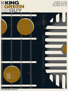 BB King/Al Green/Buddy Guy #gigposters #typography