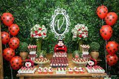 FIESTAS TEMA COQUITO 60th Birthday Cake For Ladies, 60th Birthday Cakes, Boy Birthday Parties, Baby Birthday, Ladybug Girl, Ladybug Party, Girl Birthday Decorations, Birthday Party Decorations, Ben Y Holly