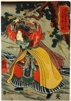 The 108 Heroes of the Popular Suikoden: Ten Feet of Green, Hu San. 1845-1853.