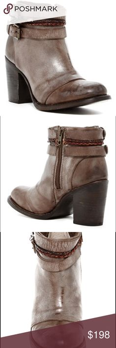 """Free People Freebird Lion Ankle Booties worn 2x. only sign of wear is scuffing on sole. mint condition. Sizing: True to size. Whole sizes only. I am an 8.5-9 and these fit perfectly. comes with box.   - Round toe - Topstitch construction - Side zip closure - Buckle strap detail - Braided strap detail - Stacked chunky heel - Approx. 3.5"""" heel - Approx. 5"""" shaft height - Imported Materials Leather upper and sole Free People Shoes Ankle Boots & Booties"""