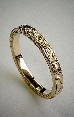Hand Engraved Wedding/Anniversary Band