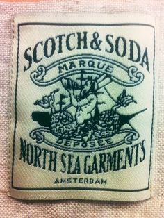Scotch and Soda Woven Label