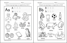 Preschool Filipino Worksheets Bundle Vol. 1st Grade Worksheets, Free Printable Worksheets, Kindergarten Worksheets, Printables, Family Worksheet, Teachers Corner, Tagalog, Word Families, Reading Material