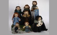 Game of Thrones Crocheted Characters the Starks!