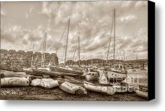 Grey Days Stretched Canvas Print / Canvas Art By Darren Wilkes