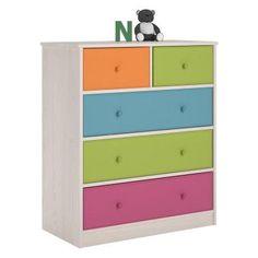 Ameriwood Home Cosco Applegate 5 Fabric Bin Storage Chest - 5885218PCOM, AMW1127-1