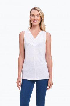 703b236703d Melia Sleeveless Tank White Shirts
