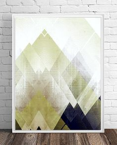 New print in my Etsy shop! Nordic art, graphic design art, Scandinavian art, abstract geometric print, abstract wall art, mountain art, abstract mountains, modern art, scandinavian art, Amy Lighthall