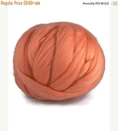 SALE Merino wool roving 19 microns superfine Colour: Rouge
