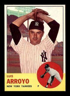 1963 Topps Luis Arroyo Baseball Card for sale online Damn Yankees, New York Yankees Baseball, Ny Yankees, Mlb Players, Baseball Players, Luis Arroyo, Giants Dodgers, Baseball Cards For Sale, Baseball Photos