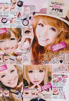 Asian Magazine Page - Gyaru Makeup