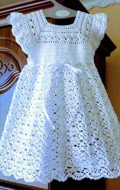 Crochet Baby Dress Pattern, Crochet Coat, Crochet Baby Clothes, Baby Knitting Patterns, Crochet Patterns, Crochet Blouse, Crochet Girls, Crochet Toddler, Crochet Daisy